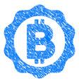 bitcoin medal seal grunge icon vector image vector image
