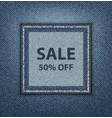 blue jeans sale poster vector image vector image