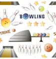 Bowling icons set pattern vector image vector image