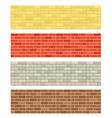 Brick wall textures vector image vector image