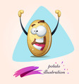 cartoon potato winner funny cute vector image