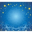 Christmas background with stars and ice patterns vector image