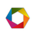 colorful hexagon shape isolated icon vector image