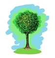 Colorful sketch of a tree vector image vector image