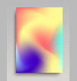colorful wavy gradient backdrop vector image vector image