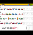 complete the pattern with vehicles game vector image vector image
