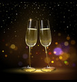 congratulatory background with champagne glasses vector image vector image