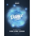 Dance party in light frame on blue flame vector image vector image