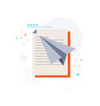 document and aircraft vector image