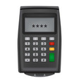 enter pin code credit card icon realistic style vector image vector image