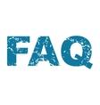 FAQ grunge icon vector image vector image