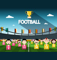 football competition symbol with cup and team on vector image vector image