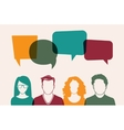 Four people vector image vector image