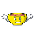 grinning soup union character cartoon vector image vector image
