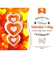 Happy Valentines day typographical glow holiday vector image vector image