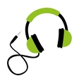 headset audio isolated icon vector image vector image