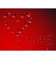 heart made from waterdrops vector image vector image