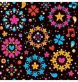 hearts stars cartoon seamless pattern vector image vector image