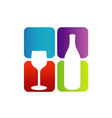 Logo for beverage business vector image