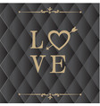 love retro square black background image vector image vector image