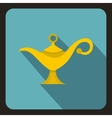 Magic lamp icon flat style vector image vector image