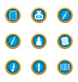 mascara icons set flat style vector image vector image