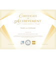 Modern certificate of achievement vector image vector image