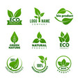 Nature logo herbal organic eco natural health