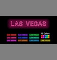 neon name of las vegas city vector image
