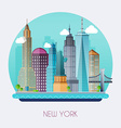 new york city skyline and landscape buildings vector image vector image