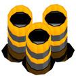 oil barrels with oil spill render vector image