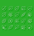 organic leaf simple paper cut icons set vector image vector image