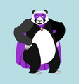 panda superhero super chinese bear in mask