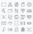photography icons set collection of photography vector image