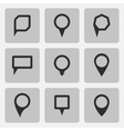 pointer black icons set various forms vector image vector image