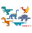 Prehistoric dinosaurs of jurassic period vector image vector image
