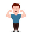 pumped-up sport fitness young man vector image vector image