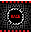 Race-square-black-background vector image vector image