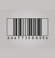 realistic bar code vector image vector image