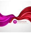 Red flying silk fabric Fashion background vector image vector image