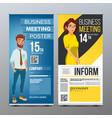 roll up banner vertical billboard template vector image vector image