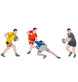 rugplayers detailed color vector image