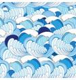 sea pattern vector image vector image