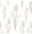 seamless pattern with gray wheat spikelets on a vector image