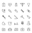 Set of Outline stroke Medical icon vector image vector image