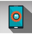 smartphone gears system symbol vector image vector image