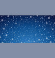 snow blue background christmas snowy winter vector image vector image