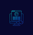 spreadsheet report icon in linear style vector image