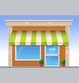 store flat icon vector image vector image