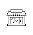 store front bakery icon outline log vector image